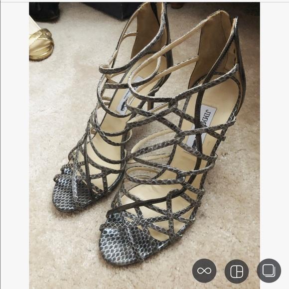 Jimmy Choo Python Strappy Heels Size 39